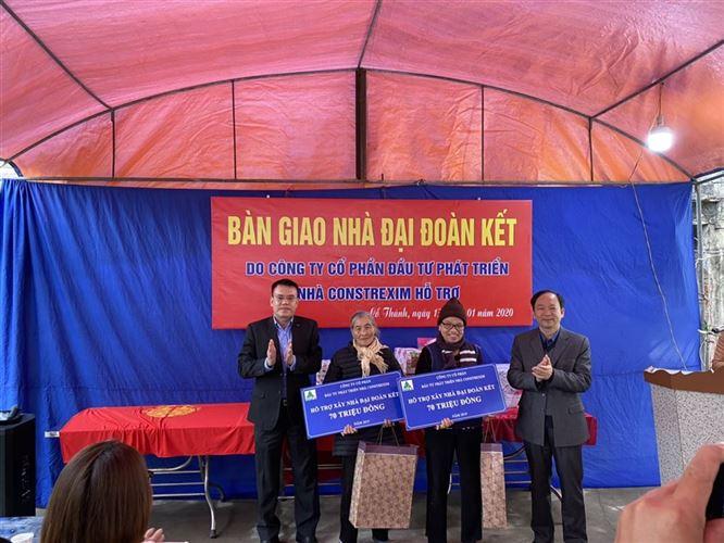 Công ty CONSTREXIM – HOD hỗ trợ xây dựng nhà đại đoàn kết tại thành phố Chí Linh, tỉnh Hải Dương