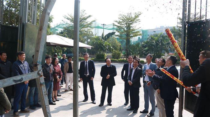 Chủ tịch HĐTV ông Nguyễn Đức Cây thăm và chúc tết công trường dự án Golden Park Tower
