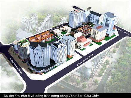 Phối cảnh tổng thể dự án khu nhà ở và công trình công cộng Yên Hòa